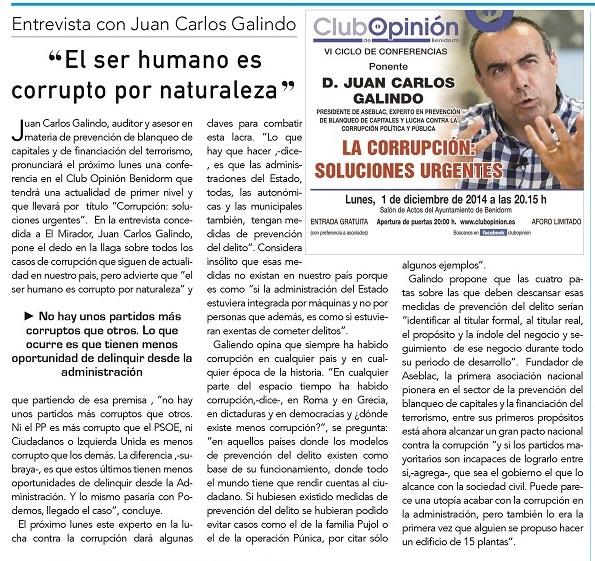 Entrevista a Juan Carlos Galindo